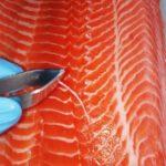 Как правильно разделать лосося? Разделываем на филе для ролла Филадельфия!
